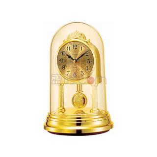 丽声 RHYTHM 创意台钟摆件装饰座钟石英钟 17cm精致钟摆 4RP777WR18