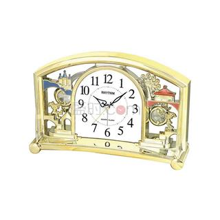 丽声 RHYTHM 创意台钟摆件装饰座钟石英钟 24cm浪漫摆锤 4SE535WT18
