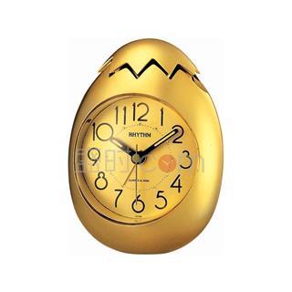 丽声 RHYTHM 健康环保可爱创意闹钟石英钟 跳秒小金蛋4RE886WP18