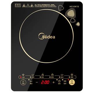 美的(Midea)电磁炉整板触控黑晶面板八档火力