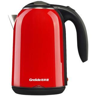格来德(Grelide)电热水壶 304不锈钢烧水壶1.7L(颜色随机)