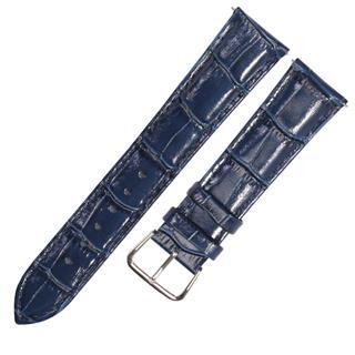 CENSH墨蓝色牛皮竹节纹表带20*18mm