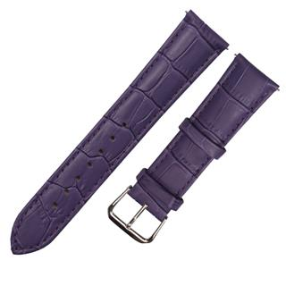 CENSH盛时定制紫色牛皮竹节纹表带15*14MM