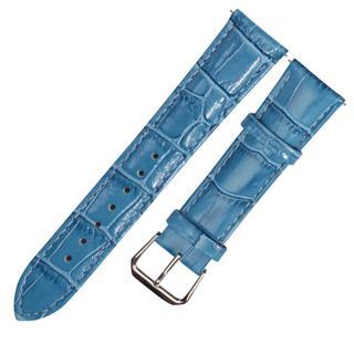 CENSH盛时定制天蓝色牛皮竹节纹表带12*10MM