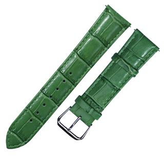 CENSH盛时定制深绿色牛皮竹节纹表带17*16MM