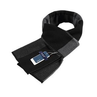 男士棉晴围巾(黑色N8004C1 )